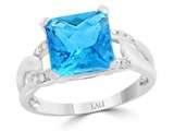 LALI Classics 14k White Gold Square Swiss Blue Topaz Ring style: LALI1100