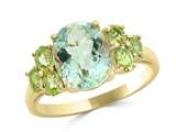 LALI Classics 14k Yellow Gold Green Amethyst Oval Ring style: LALI1104