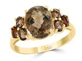 LALI Classics 14k Yellow Gold 7 Stone Smoky Quartz Oval Ring style: LALI1105