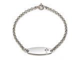 Sterling Silver Children Cross ID Bracelet style: 503318