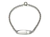 Sterling Silver Children Heart ID Bracelet style: 503320