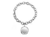 Sterling Silver 8 inches Round Charm Bracelet style: 50DB29