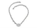 Sterling Silver 16 inches Oval Charm Necklace