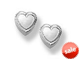 925 Sterling Silver Childrens Heart Earrings style: 503379