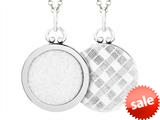 Sterling Silver Round Picture Charm Pendant style: 503433
