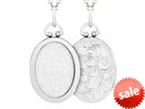 Finejewelers Sterling Silver Oval Picture Charm Pendant Necklace style: 503434