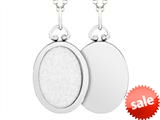Finejewelers Sterling Silver Oval Picture Charm Pendant Necklace style: 503436