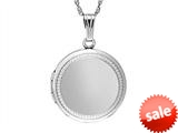 Sterling Silver Adult Round Locket Pendant style: 503441