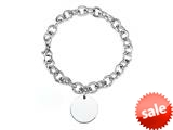 Sterling Silver 8 inches Circle Charm Bracelet style: 50DB19
