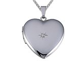 Medium Heart Locket Pendant With Diamond style: 501003