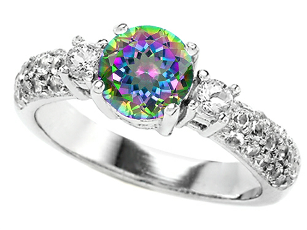 by topaz white market buy generous product rings black mystic rhodium opal ring sgs