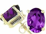 Tommaso Design™ Oval 9x7 mm Genuine Amethyst Earrings style: 21546