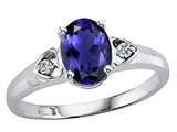 Tommaso Design™ Oval 7x5mm Genuine Iolite Ring style: 21768