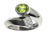 Tommaso Design™ Oval 7x5mm Genuine Peridot Ring style: 22037