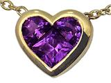 Tommaso Design™ Genuine Invisible Set Amethyst Pendant Necklace style: 23344
