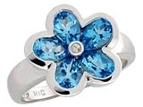 Tommaso Design™ Genuine Blue Topaz Ring style: 23349