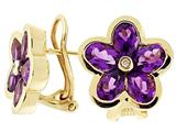Tommaso Design™ Genuine Amethyst Earrings style: 23363