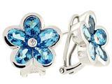 Tommaso Design™ Genuine Blue Topaz Earrings style: 23364