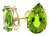 Tommaso Design™ Pear Shape 8x6mm Genuine Peridot Earrings style: 23502