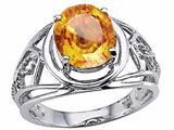 Tommaso Design™ Oval 10x8 mm Genuine Large Citrine Ring style: 24531