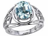 Tommaso Design™ Genuine Large Oval Aquamarine Ring style: 24532