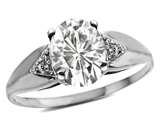 Tommaso Design™ Oval 9x7 Genuine White Topaz Ring style: 24558
