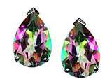 Tommaso Design™ Pear Shape Rainbow Mystic Topaz Earrings Studs style: 25799