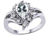Tommaso Design™ Genuine White Topaz Ring style: 25905