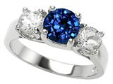 Star K™ 7mm Round Created Sapphire Ring style: 27069