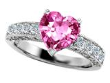 Original Star K™ 8mm Heart Shape Simulated Pink Topaz Ring style: 27184