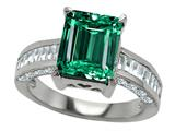Star K™ Emerald Octagon Cut Simulated Emerald Ring style: 27243