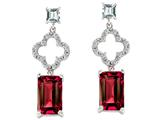 Original Star K™ Emerald Cut Created Ruby Earrings style: 27304