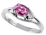 Tommaso Design™ Genuine Pink Tourmaline Ring style: 301671