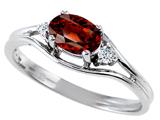 Tommaso Design™ Genuine Garnet Ring style: 301673