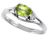 Tommaso Design™ Genuine Peridot Ring style: 301674
