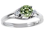 Tommaso Design™ Genuine Green Sapphire Ring style: 301682
