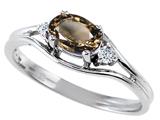 Tommaso Design™ Genuine Smoky Quartz Ring style: 301687