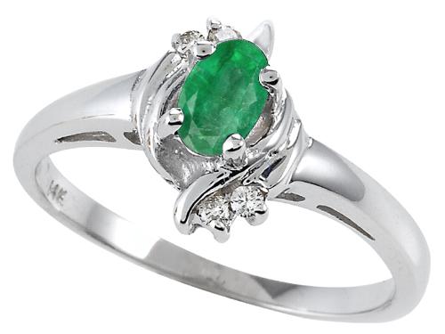 Tommaso Design™ Genuine Emerald Ring style: 301701