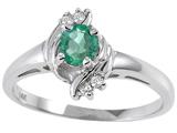 Tommaso Design™ Genuine Emerald Ring style: 301706
