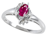 Tommaso Design™ Genuine Ruby and Diamond Ring style: 301731