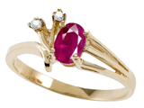 Tommaso Design™ Genuine Ruby and Diamond Ring style: 301732