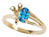Tommaso Design™ Genuine Blue Topaz Ring style: 301743