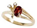 Tommaso Design™ Genuine Garnet Ring style: 301744