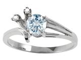 Tommaso Design™ Round Genuine Aquamarine Ring style: 301755