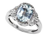 Tommaso Design™ Oval Genuine Aquamarine Ring style: 301824