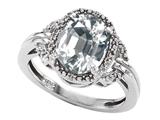 Tommaso Design™ Oval Genuine White Topaz Ring style: 301829