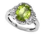 Tommaso Design™ Oval 10x8mm Genuine Peridot Ring style: 301831