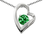Star K™ Simulated Round Emerald Pendant Necklace style: 302088