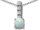Star K™ Simulated Opal Pendant Necklace style: 302204