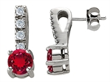 Star K™ Created Ruby Earrings style: 302205